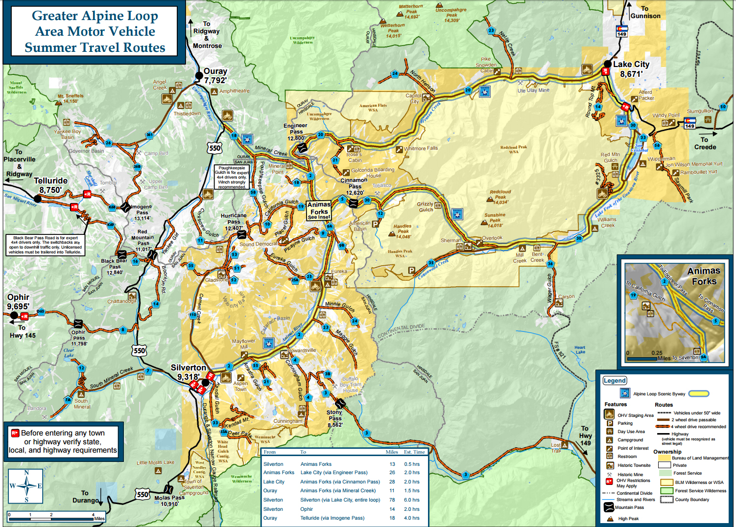 OB Approved The Alpine Loop Trail Colorado OVERLAND BOUND - Map of southern colorado