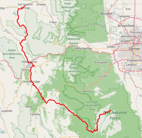 Enchanted Rockies Trail GPS Data – Deckers to Hot Sulphur Springs (CO)